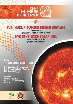 Fusi Nuklir Sumber Energi Bintang dan Dye Sensitized Solar Cell | Seri Mimbar Akademik #6