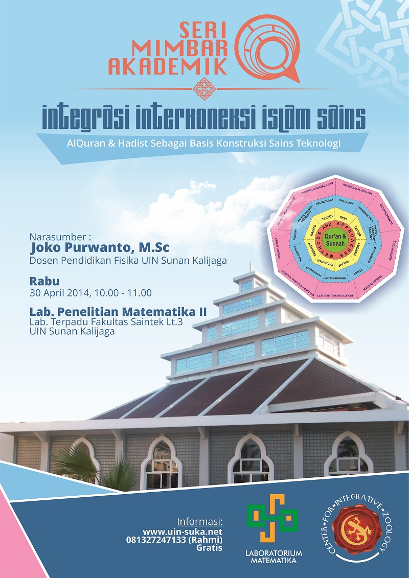 seri mimbar akademik integrasi intekoneksi islam sains – uin-suka net – laboratorium matematika – center for integrative zoology