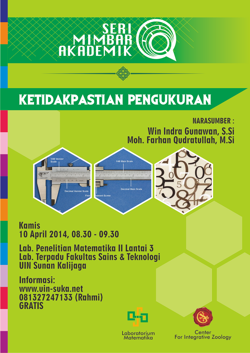 seri mimbar akademik ketidakpastian pengukuran - uin-suka net - laboratorium matematika - center for integrative zoology