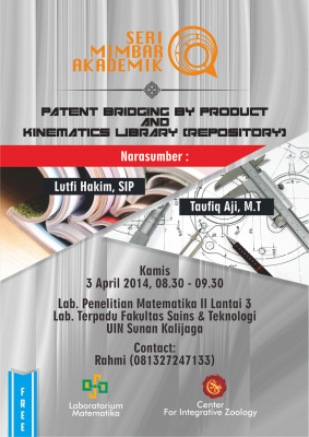 Patent Bridging by Product and Kinematics Library (Repository)   Seri Mimbar Akademik #3
