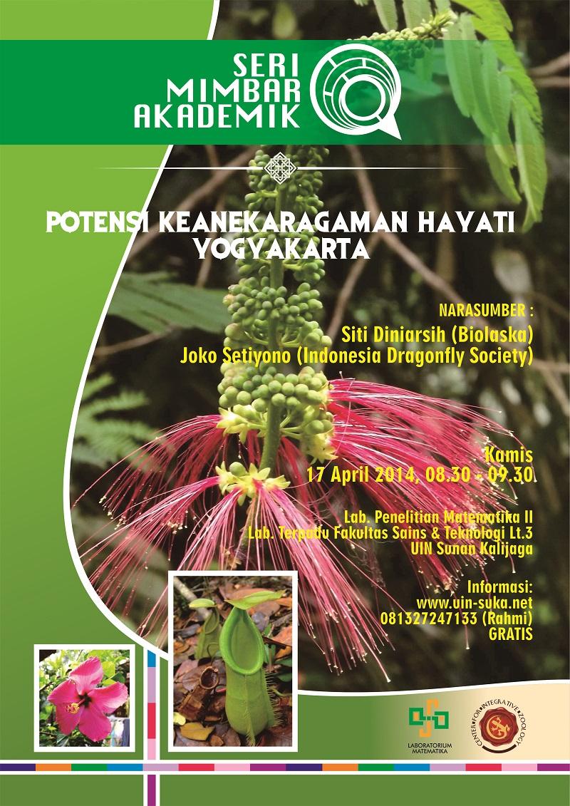 seri mimbar akademik potensi keanekaragaman hayati yogyakarta - uin-suka net - laboratorium matematika - center for integrative zoology