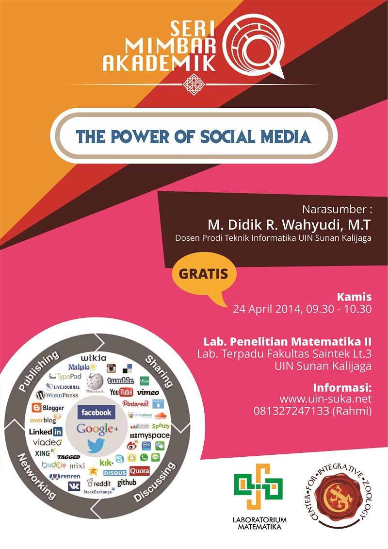 seri mimbar akademik the power of social media - uin-suka net - laboratorium matematika - center for integrative zoology