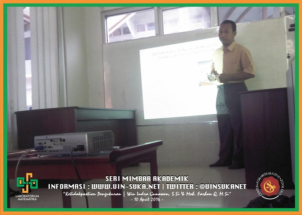 Seri Mimbar Akademik Photo 18- Center for Integrative Zoology with Laboratorium Matematika UIN Sunan Kalijaga