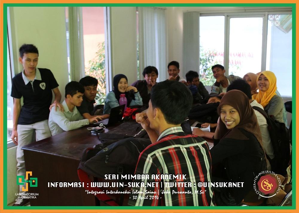Seri Mimbar Akademik Photo 8- Center for Integrative Zoology with Laboratorium Matematika UIN Sunan Kalijaga