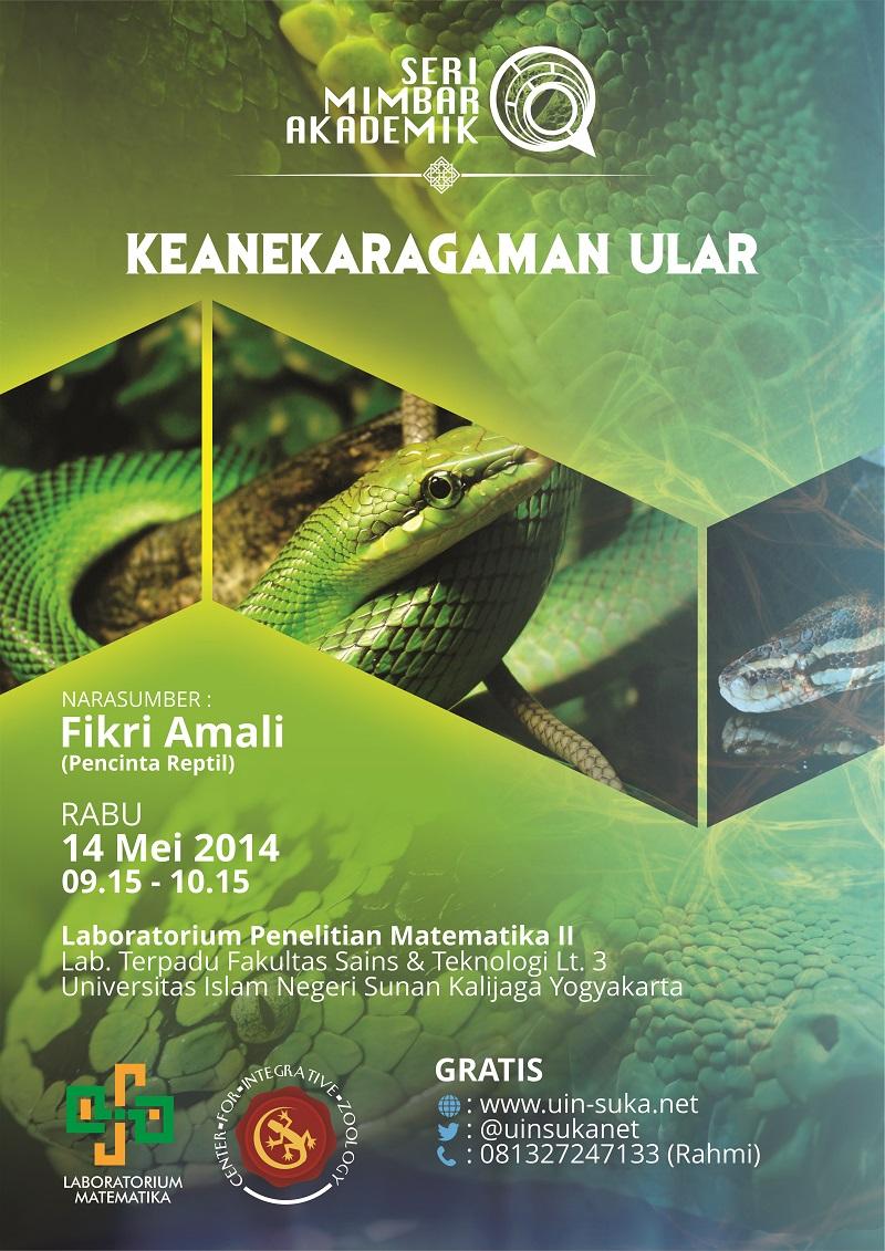 seri mimbar akademik keanekaragaman ular - uin-suka net - laboratorium matematika - center for integrative zoology