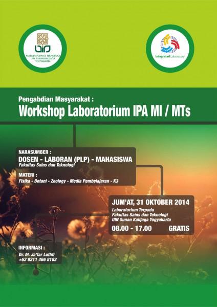 Workshop Laboratorium IPA MI / MTs   Pengabdian Masyarakat