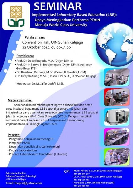 Seminar Implementasi Laboratory-Based Education (LBE) UIN Sunan Kalijaga