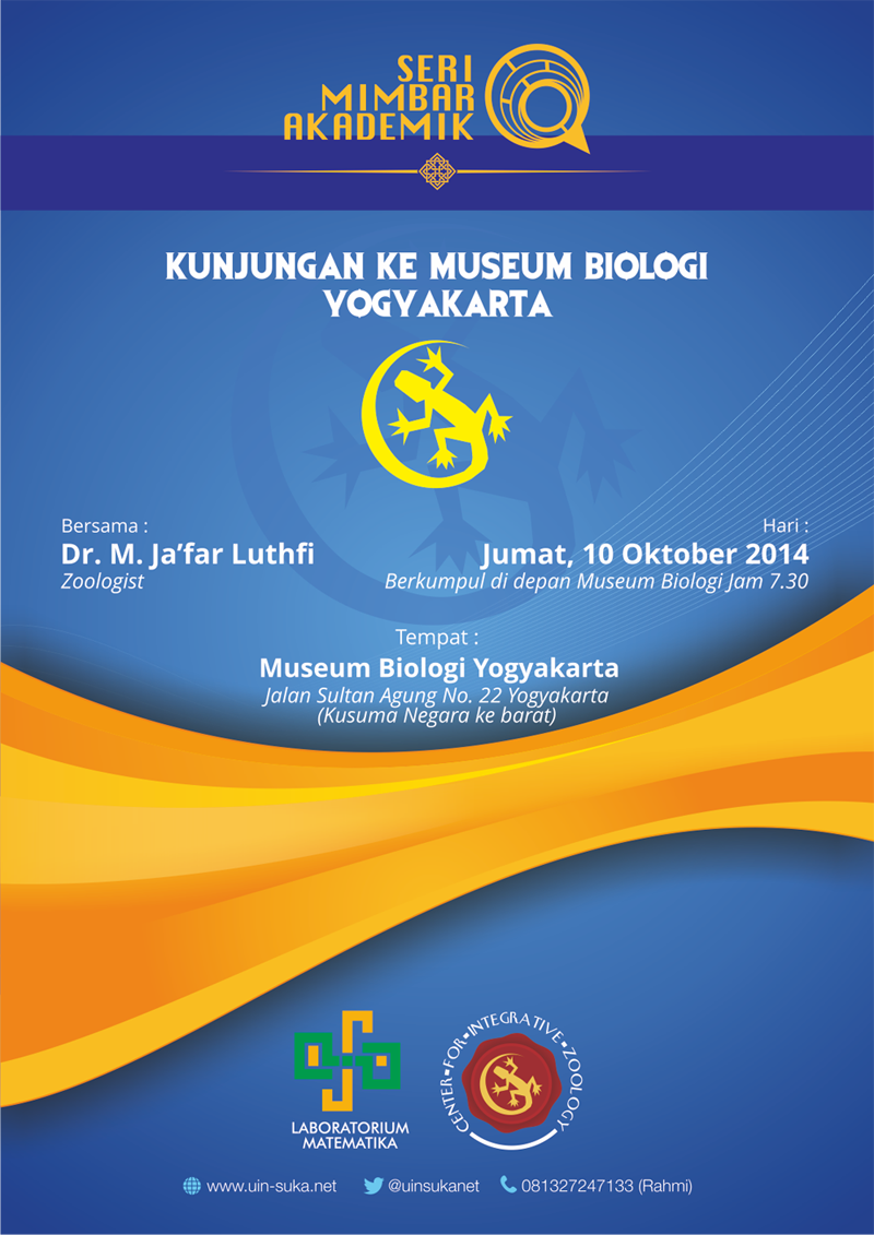 kunjungan ke museum biologi yogyakarta - uin suka net - laboratorium matematika - center for integrative zoology