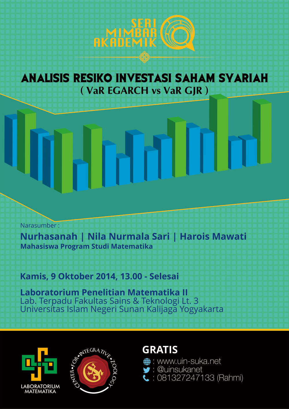 seri mimbar akademik analisis resiko investasi saham syariah var egarch vs var gjr- uin-suka net - laboratorium matematika - center for integrative zoology