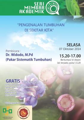 Pengenalan Tumbuhan di Sekitar Kita - Dr Widodo, M.Pd | Seri Mimbar Akademik #18