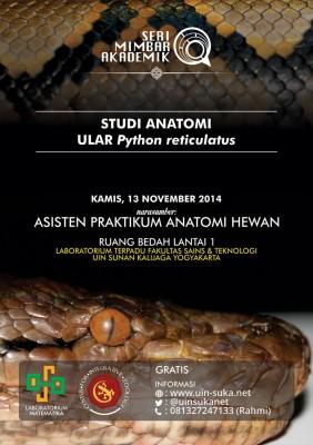 Studi anatomi ular Phyton reticulatus | Seri Mimbar Akademik #23