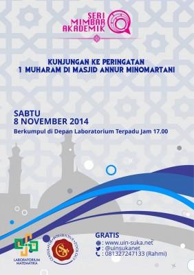 Mengunjungi Peringatan 1 Muharam di Masjid An-nur Minomartani |Seri Mimbar Akademik #22