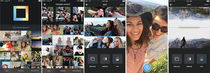 Aplikasi layout foto Instagram