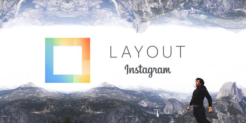 Aplikasi layout foto dari Instagram