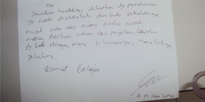 Kisi-kisi UTS Evolusi T.A 2014/2015 - Dosen Dr. M.Ja'far Luthfi