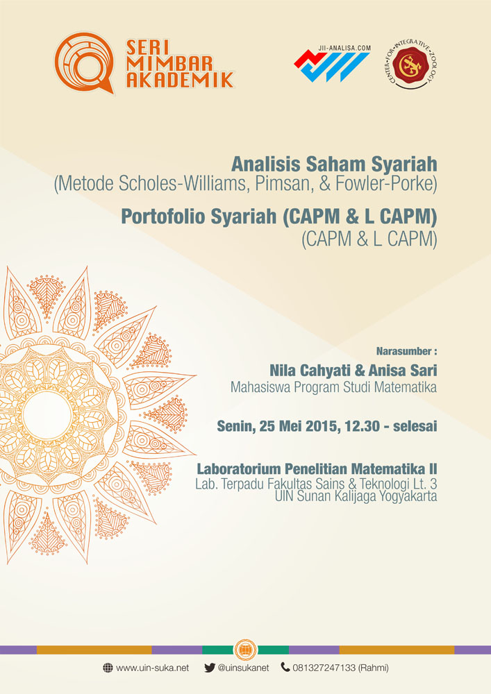 ANALISIS SAHAM SYARIAH ( Metode Scholes-Williams, Pimson, Fowler-Porke) & PORTOFOLIO SYARIAH (CAMP & L CAPM)