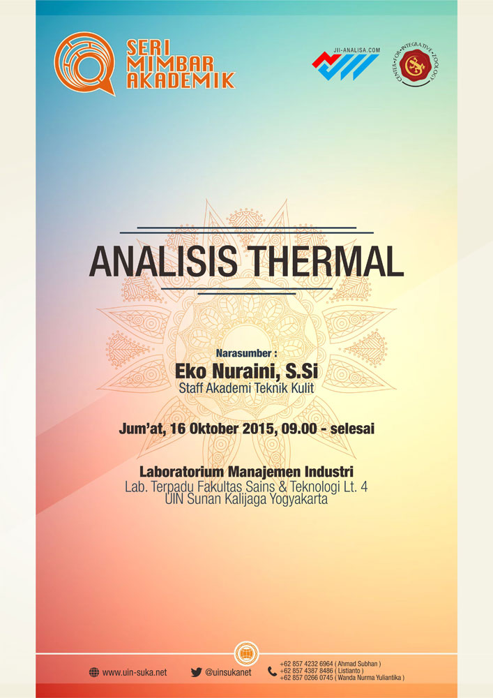 Analisis Thermal – Seri Mimbar Akademik #35