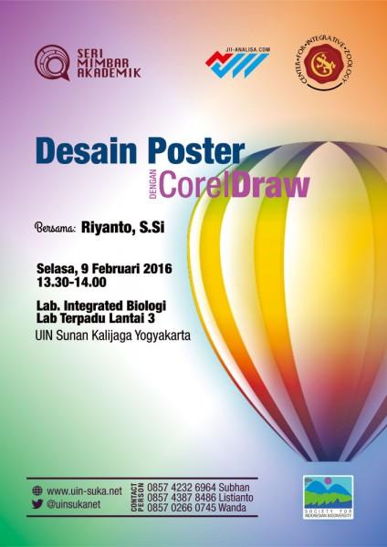 Desain Poster dengan CorelDraw - Seri Mimbar Akademik #43