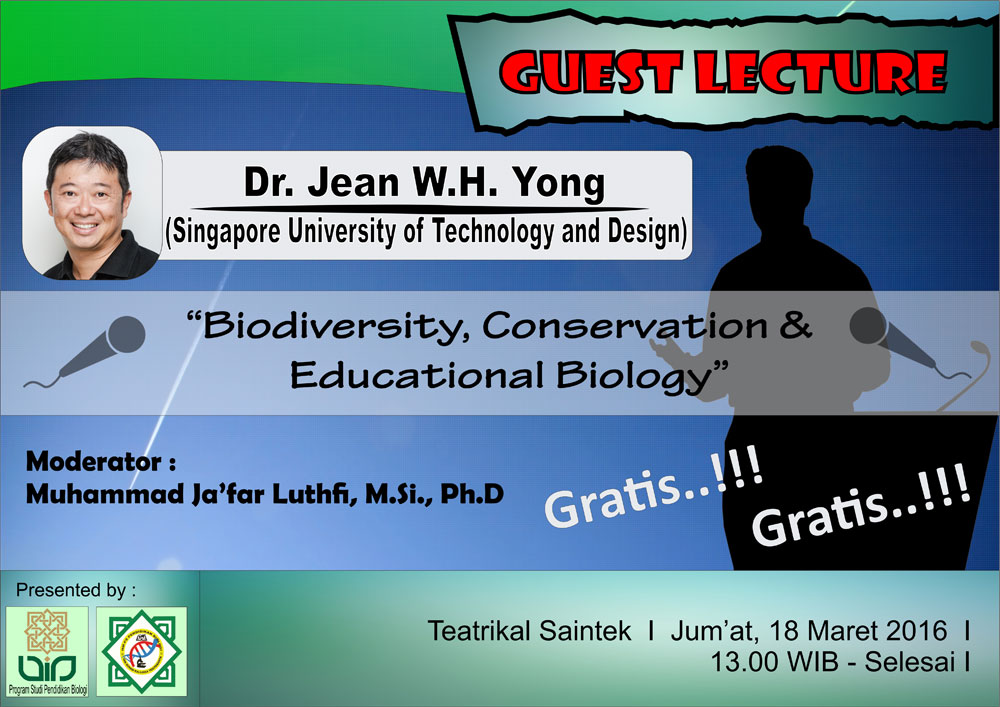 Biodiversity Conservation & Educational Biology - Guest lecture - Jean W. H. Yong