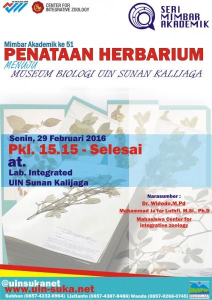 Penataan Herbarium Menuju Museum Biologi UIN Sunan Kalijaga - Seri Mimbar Akademik #51