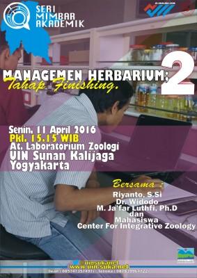 Manajemen Herbarium: Tahap Finishing - Seri Mimbar Akademik #56