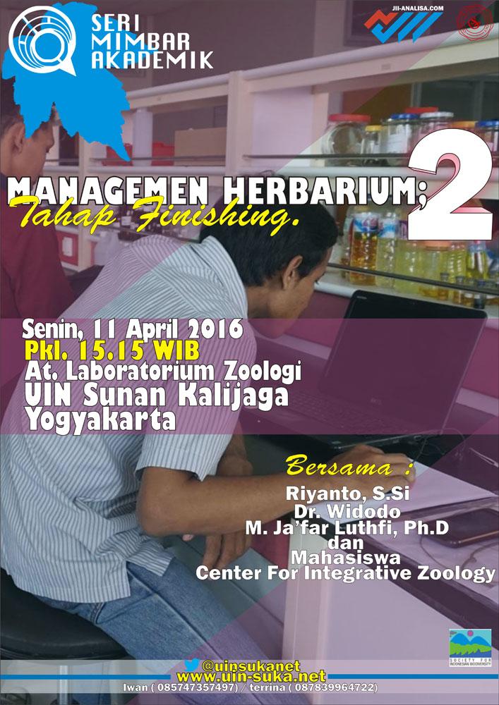 Manajemen Herbarium Tahap Finishing - Seri Mimbar Akademik #56