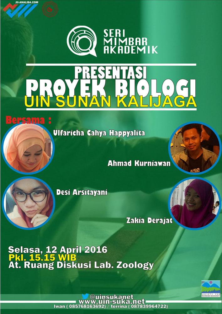 Presentasi Proyek Biologi UIN Sunan Kalijaga -  Seri Mimbar Akademik #57