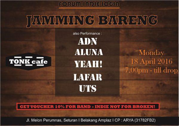 Forum Indie Jogja - Jamming Bareng Tonk Cafe