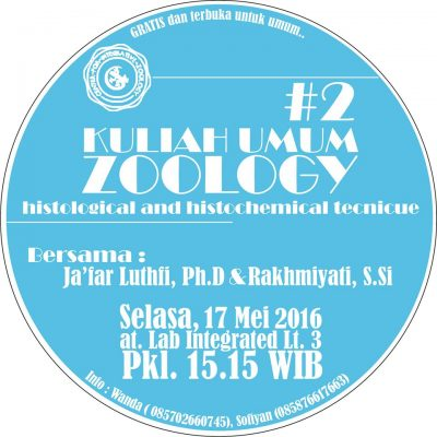 Histological and Histochemical tecnique - Kuliah Umum Zoology #2