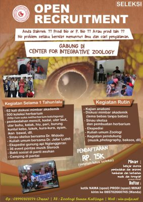Open Recruitment Center For Integrative Zoology